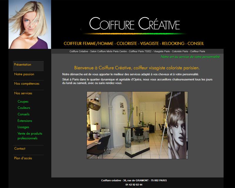 Cr ation site internet site - Site salon de coiffure ...