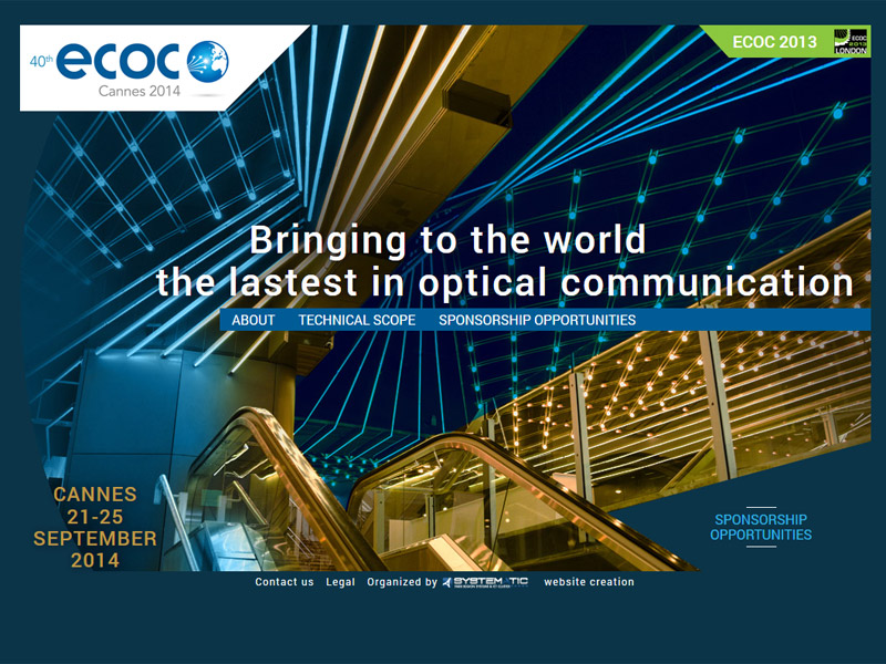ECOC : the largest conference on optical communication in Europe