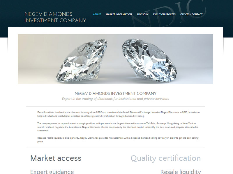 Negev Diamonds Investment Company